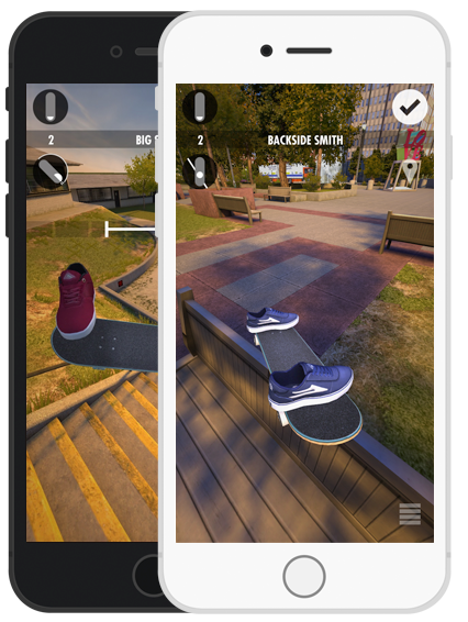 Skater Skateboarding Game iPhone Screenshot